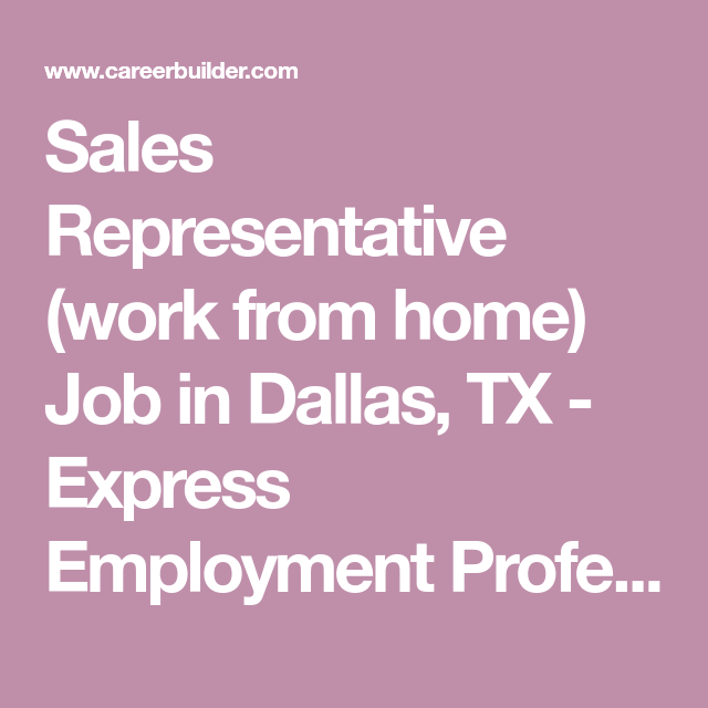 ecd829998cd51442890f4c33cccc0b78 Jobs From Home Dallas on