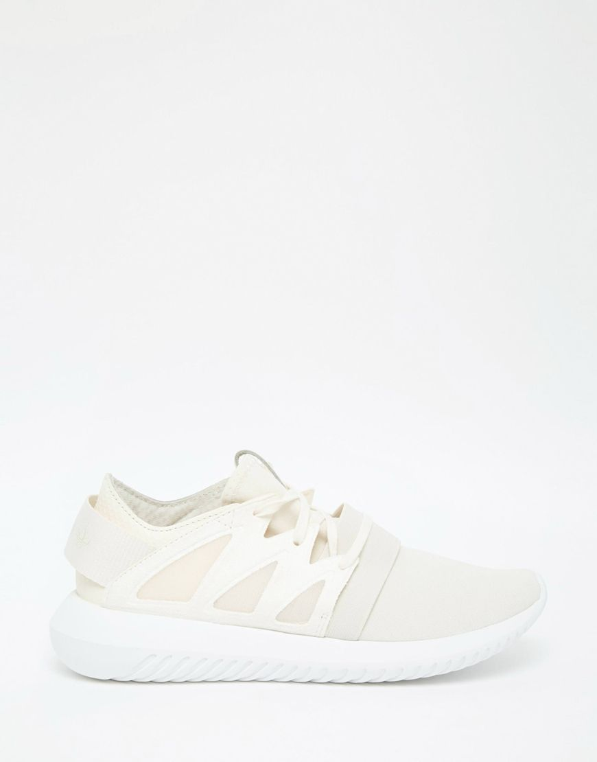 immagine 2 di adidas originali gesso bianco e scarpe da ginnastica virale tubulare