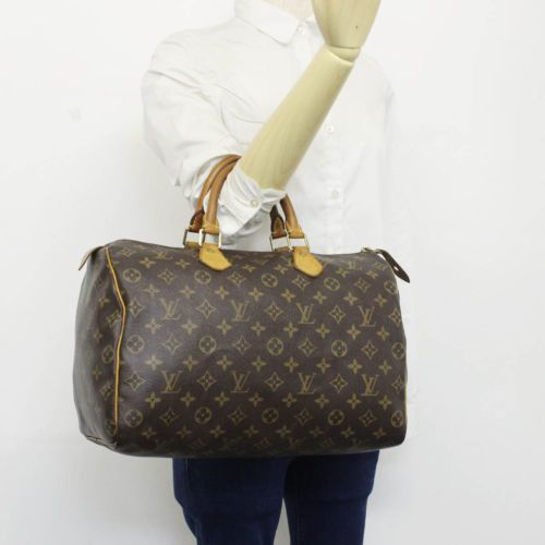 439e4774a9a8 Authentic-Louis-Vuitton-Speedy-35-Monogram-Hand-Bag-Mini-Boston-Bag ...