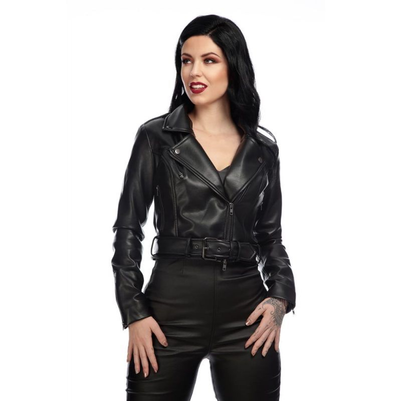 Cry Baby Biker Real Leather Jacket In 2020 Real Leather Jacket Jackets Cry Baby