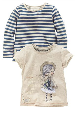 Buy Appliqué Girl And Stripe Tops Two Pack (3mths–6yrs) from the Next UK online shop
