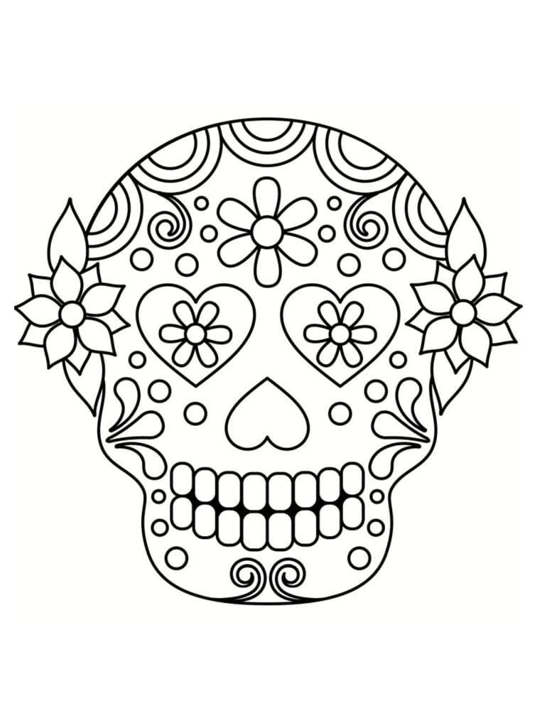 Coloriage Tete De Mort Mexicaine 20 Dessins A Imprimer