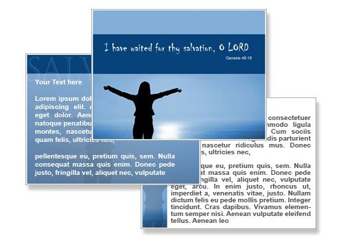 Salvation Powerpoint Templates Background Faith Salvation