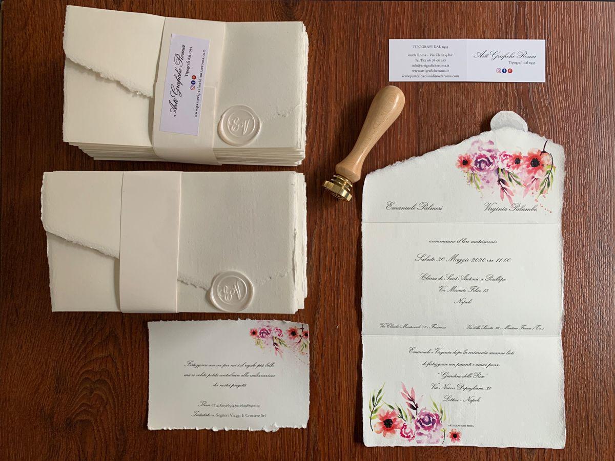 Partecipazioni Di Nozze Matrimonio Carta Amalfi Roma Partecipazioni Nozze Matrimonio Carta Decorazioni Nuziali