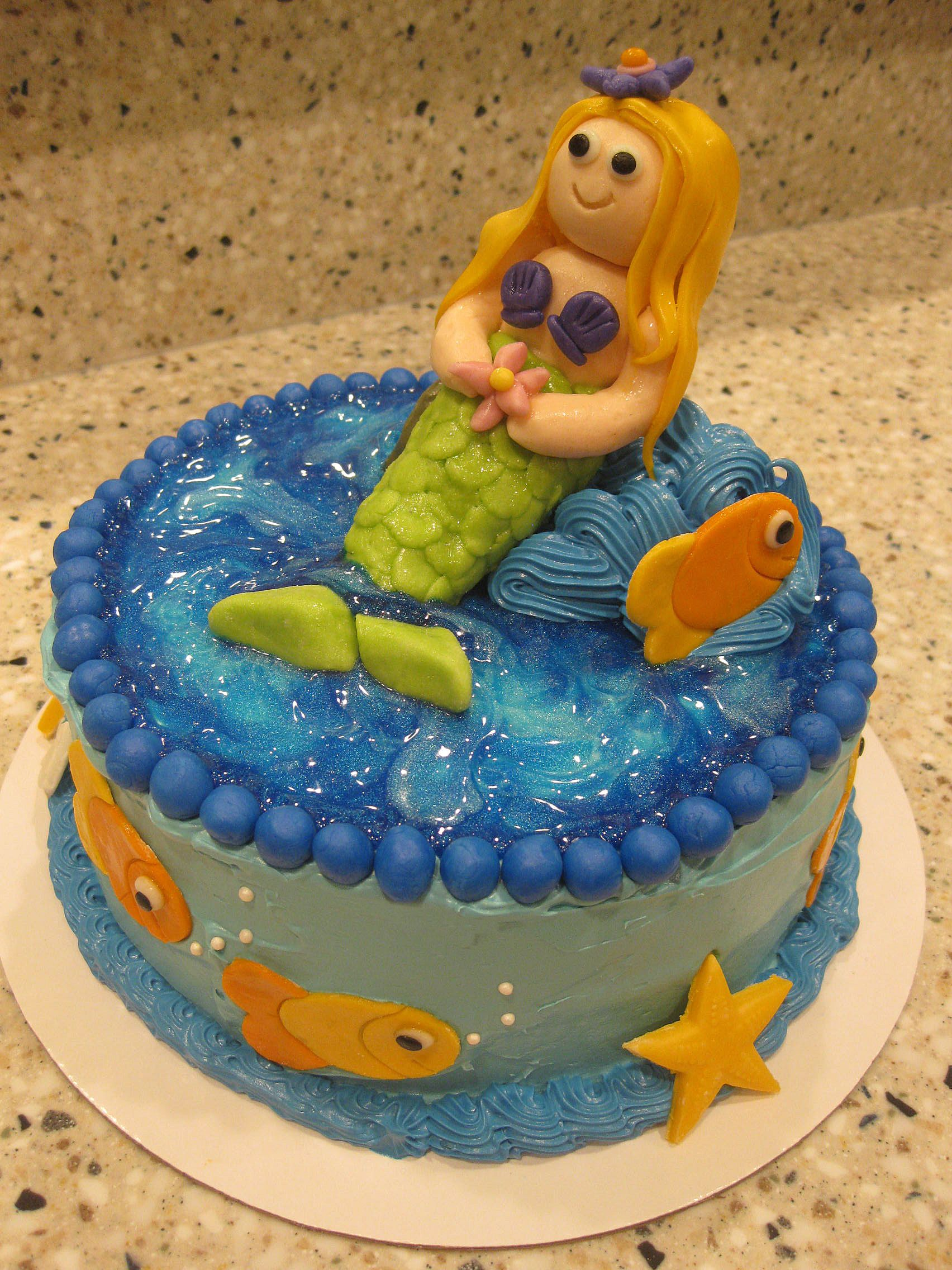 baby shower mother to be mermaid cake edible art pinterest
