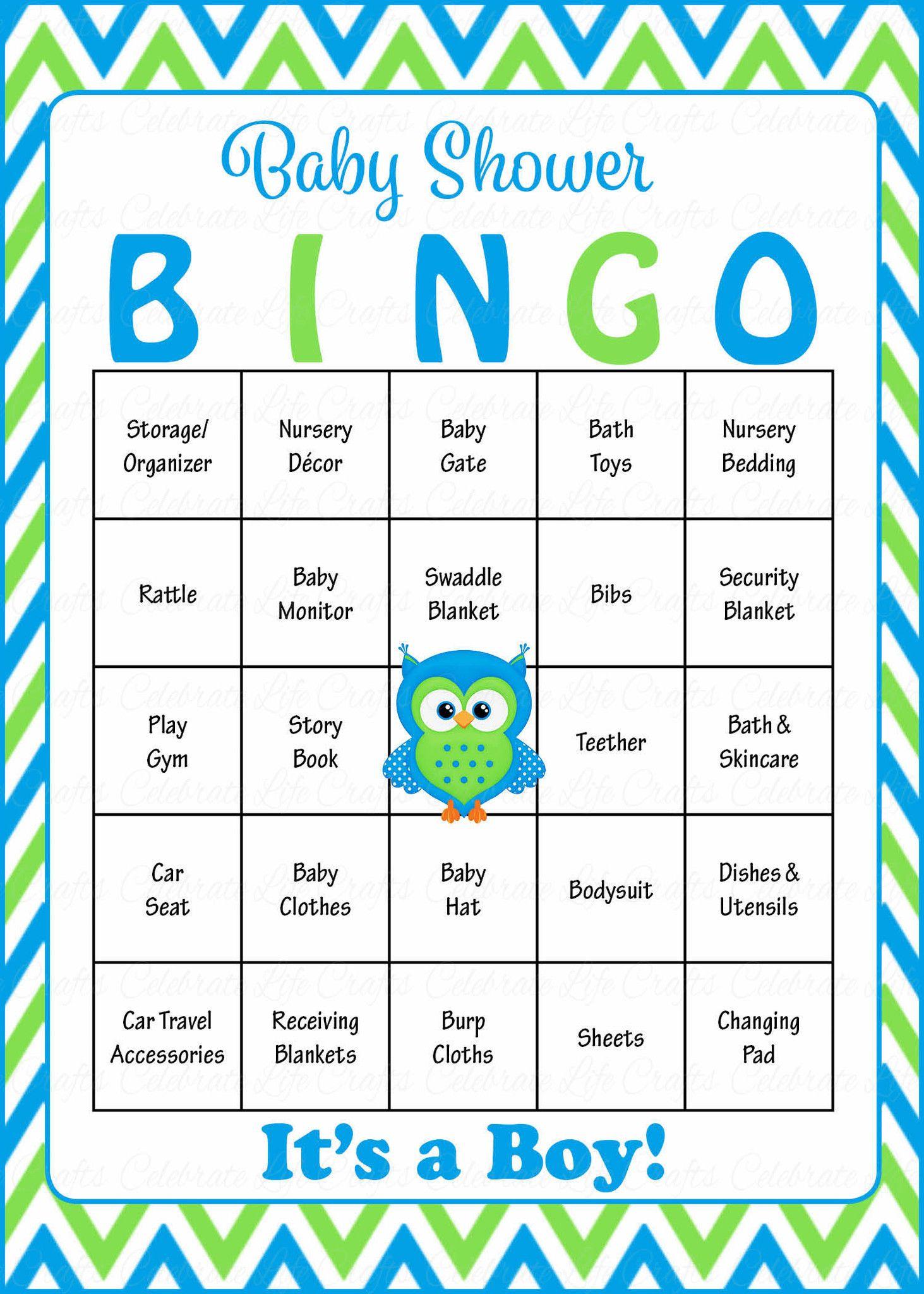Owl Baby Bingo Cards Printable Download Prefilled Baby Shower