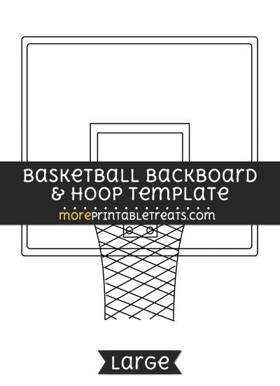 Free Basketball Backboard And Hoop Template - Large Shapes and - black and white basketball template