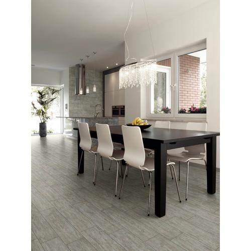 Canopy Gray Wood Plank Porcelain Tile