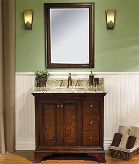 Vanity With Wainscoting Behind Bathroom Ideas