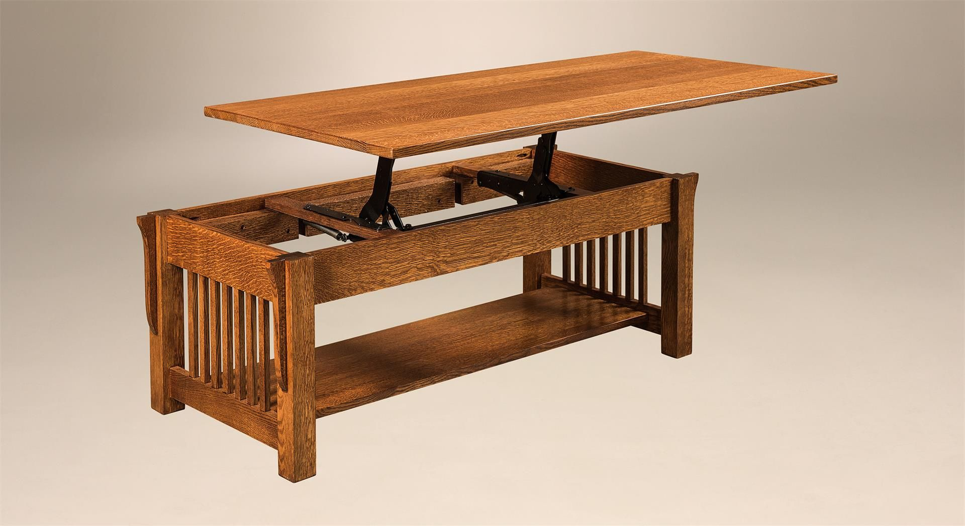 Amish Mccoy Mission Coffee Table Solid Wood Coffee Table