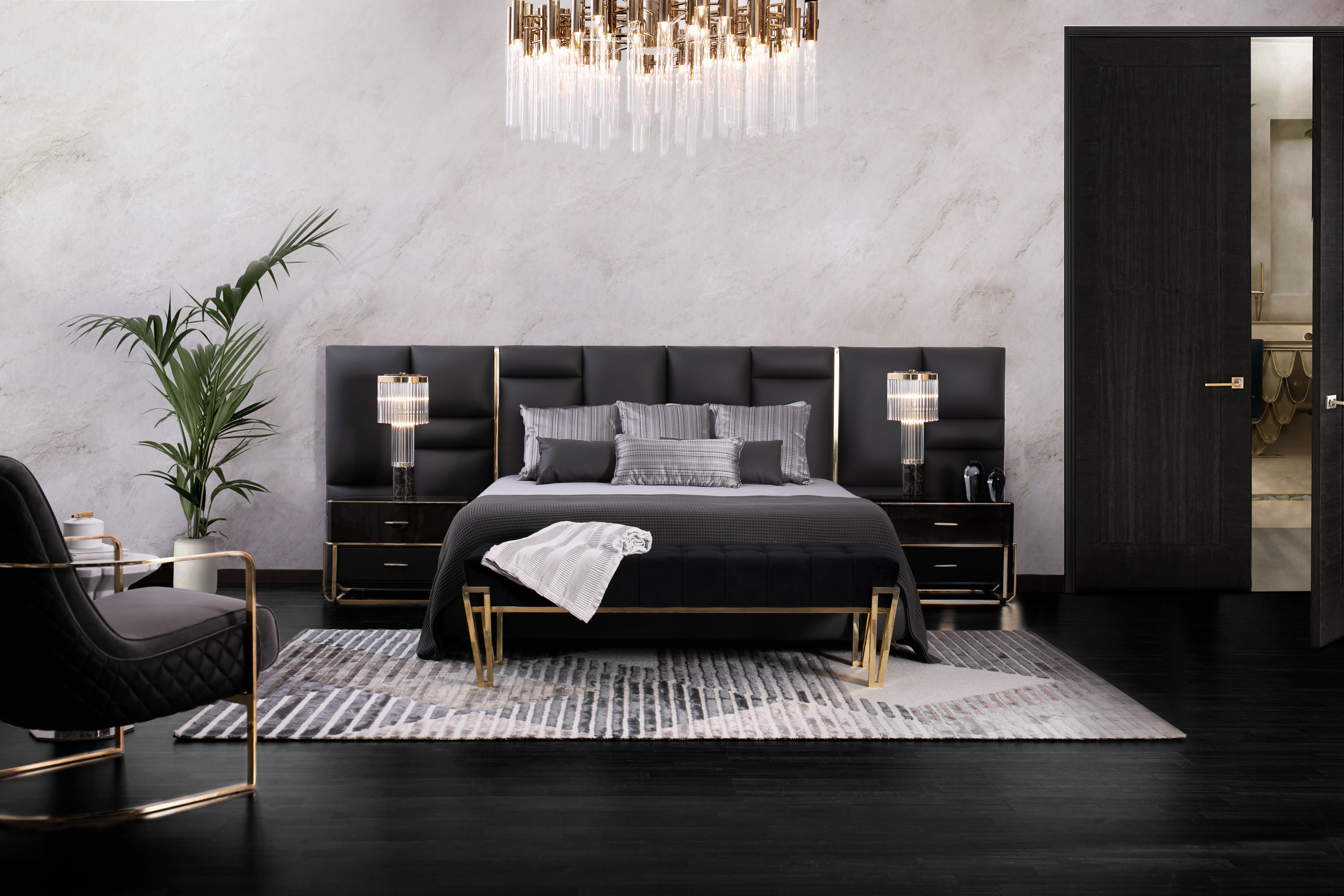 The Bed Is The Main Piece Of Any Bedroom Design In 2020 Luxurious Bedrooms Interior Design Luxury Home Decor