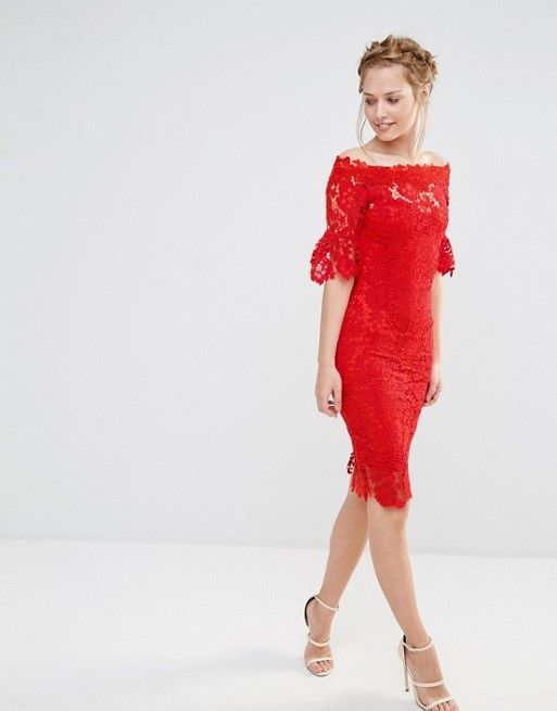 Red Lace Dress Asos Holiday Parties Petite Tall Regular Red Lace Dress Outfit Wedding Guest Dress Dresses