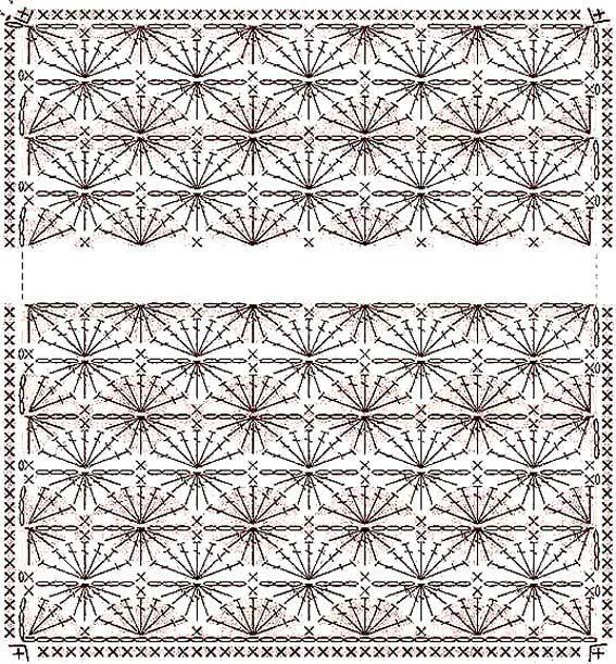 Diagramas de mantas para bebés a crochet - Imagui | Croché y tejido ...