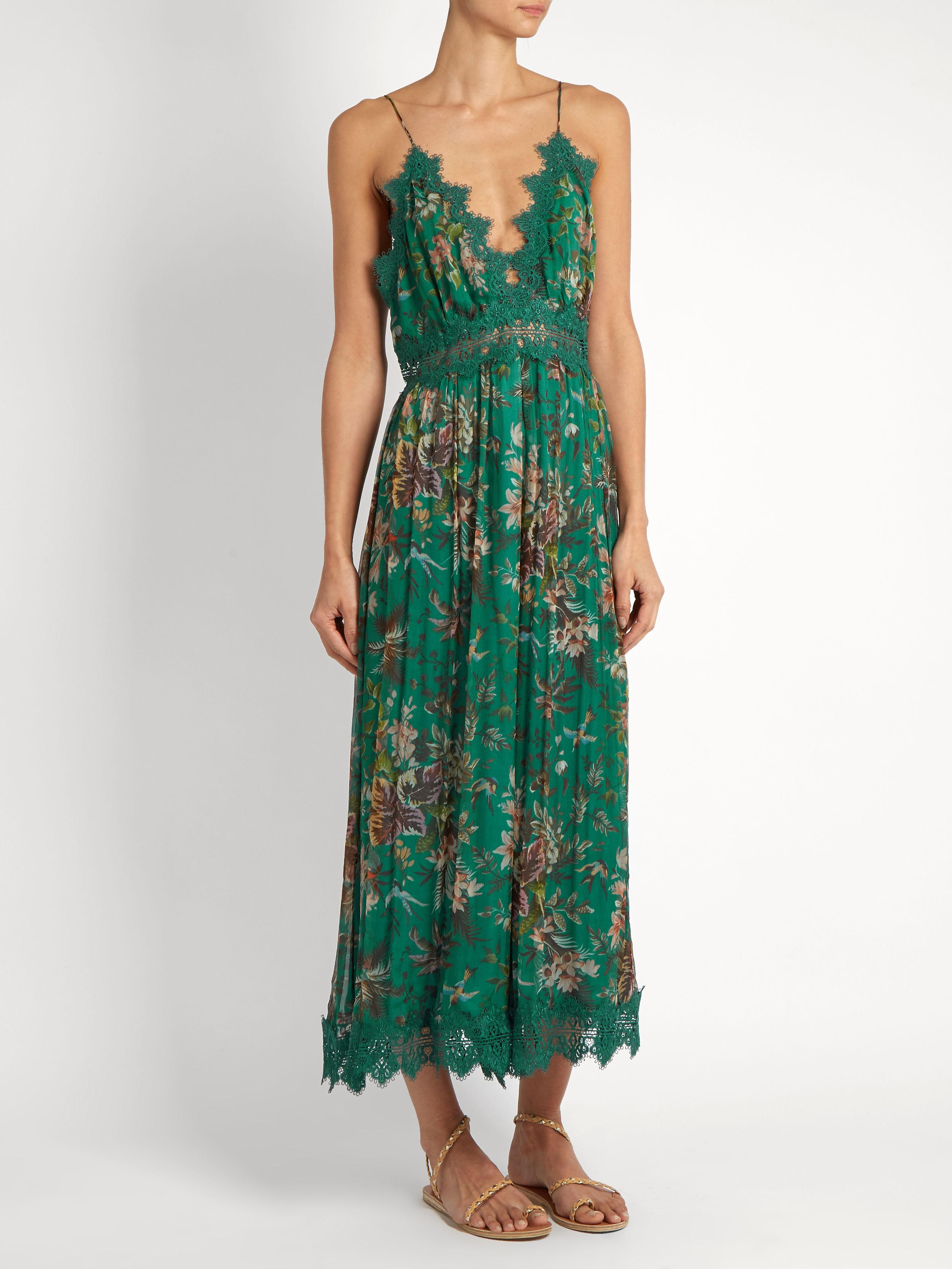 Tropicale Crinkle silk-georgette jumpsuit | Zimmermann | MATCHESFASHION.COM