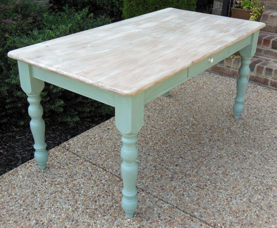 Beautiful Duck Egg Blue And Old White Pine Chalk Paint
