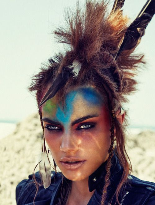 Road Warrior anyone?? Cool makeup & look!