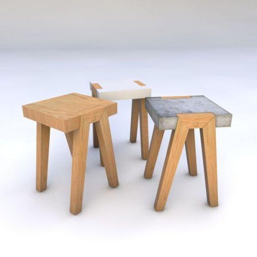 Appoint Beton Bois Decoration Design Hector Leon Table Table De Chevet Mobilier De Salon Meubles En Beton