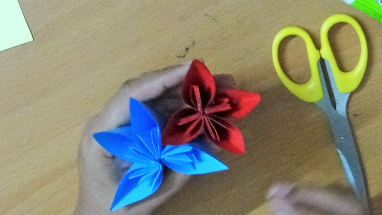 Simple Origami Paper Art Crafts How To Make An Origami Kusudama