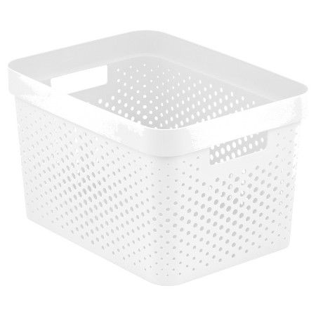 Room Essentials Resin Weave Rectangular Storage Bin White Target
