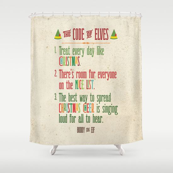 Buddy The Elf Code Of Elves Shower Curtain