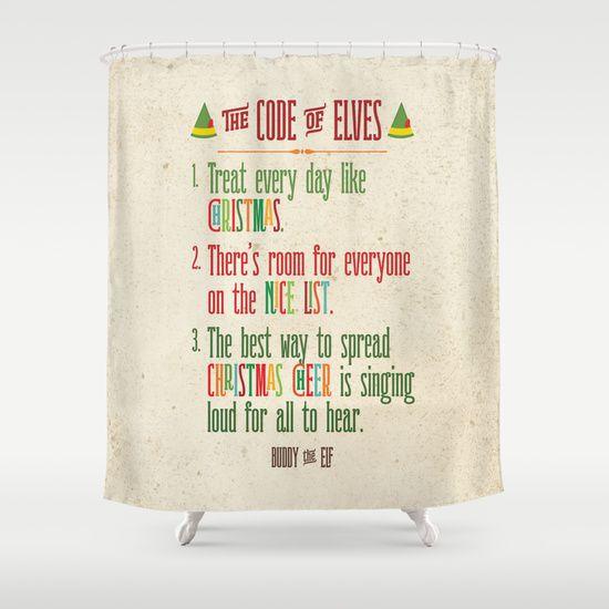 Buddy The Elf Code Of Elves Shower Curtain