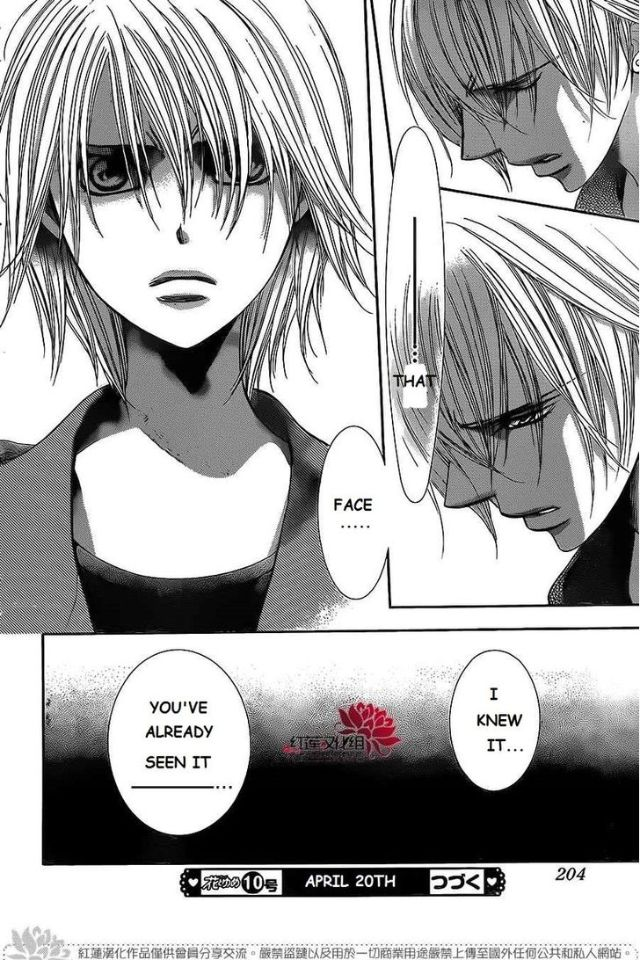 Nooo he can't be the first one to see her like that!!!! Why not Ren *suffers* -Skip beat (chapter 222)