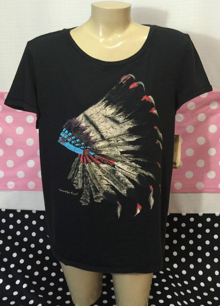 Ralph Lauren Women's Denim & Supply Indian Graphic Shirt Large New v8 #RalphLauren #GraphicTee