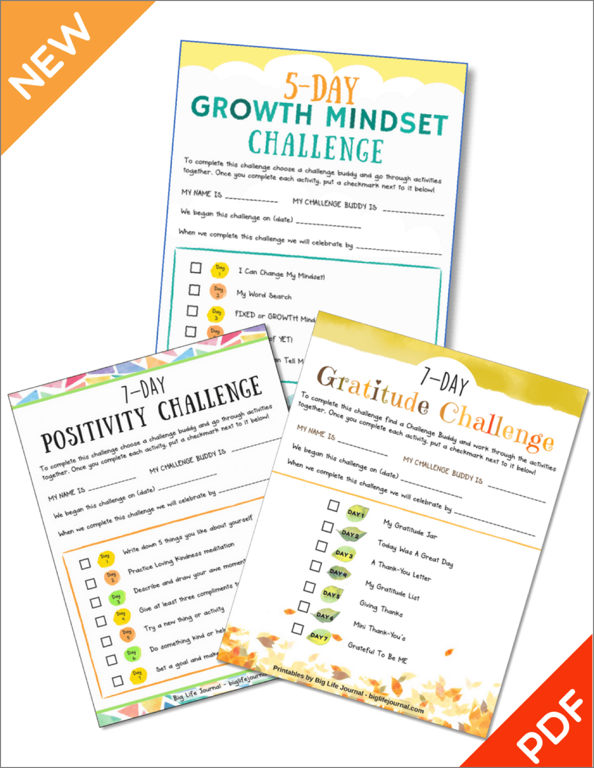 5 Day Growth Mindset Challenge For Children
