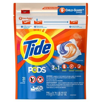 Tide Laundry Cleaning Supply 3700093037 Original Pods 31 Count Tide Pods Tide Detergent Laundry Detergent