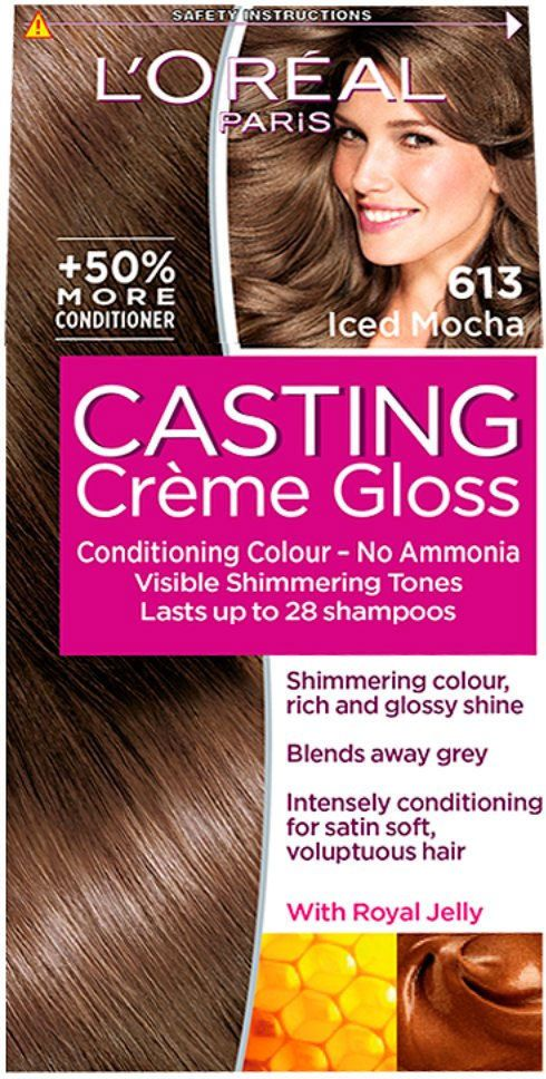 Loreal Casting Creme Gloss 613 Iced Mocha Hair Colour Colouring Lasts 28 Shampoo For Sale Online Ebay In 2021 Loreal Casting Creme Gloss Mocha Color Hair Mocha Hair