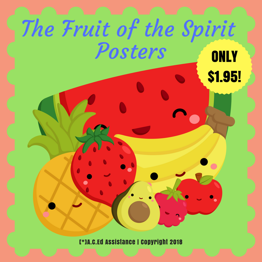 Classroom Display The Fruit Of The Spirit Posters Covering