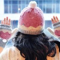 """""""Sweeter Than a Cupcake"""" Hat and Mittens - via @Craftsy"""