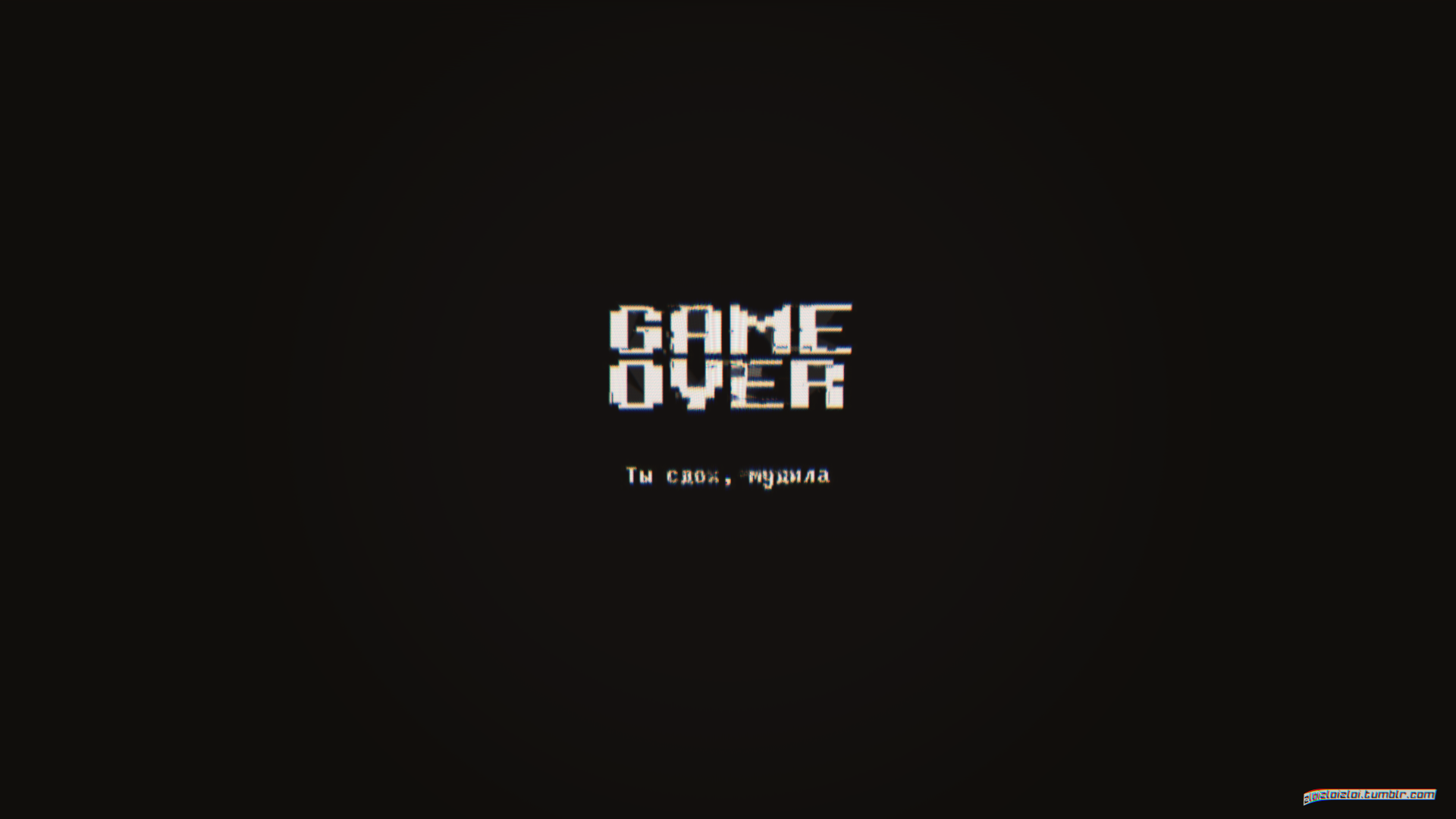 Game Over Minimal Dark Black 1920x1080 Words Wallpaper