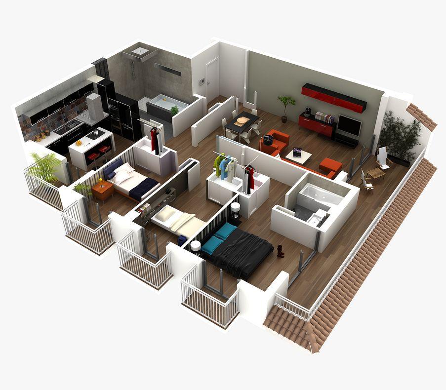 Planos de casas angostas y largas buscar con google for Planos google