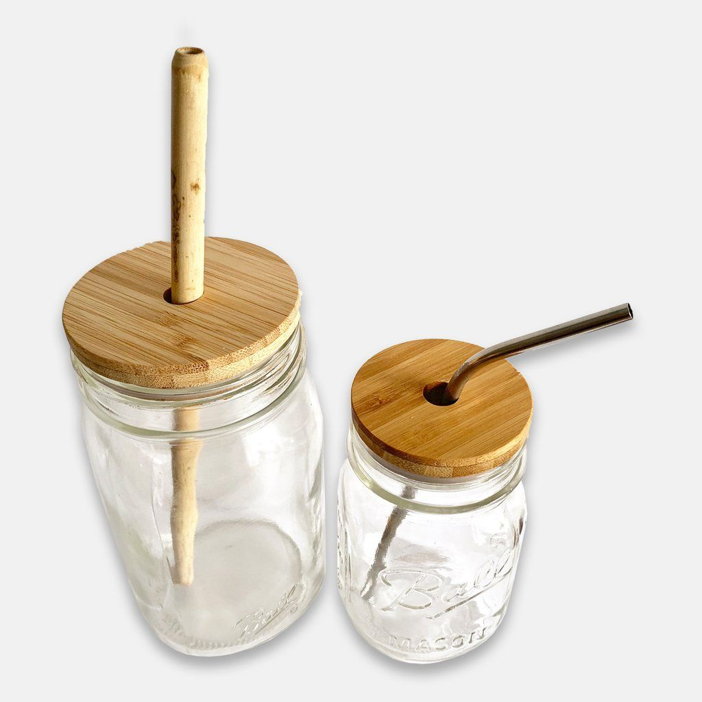 Bamboo Mason Jar Lid