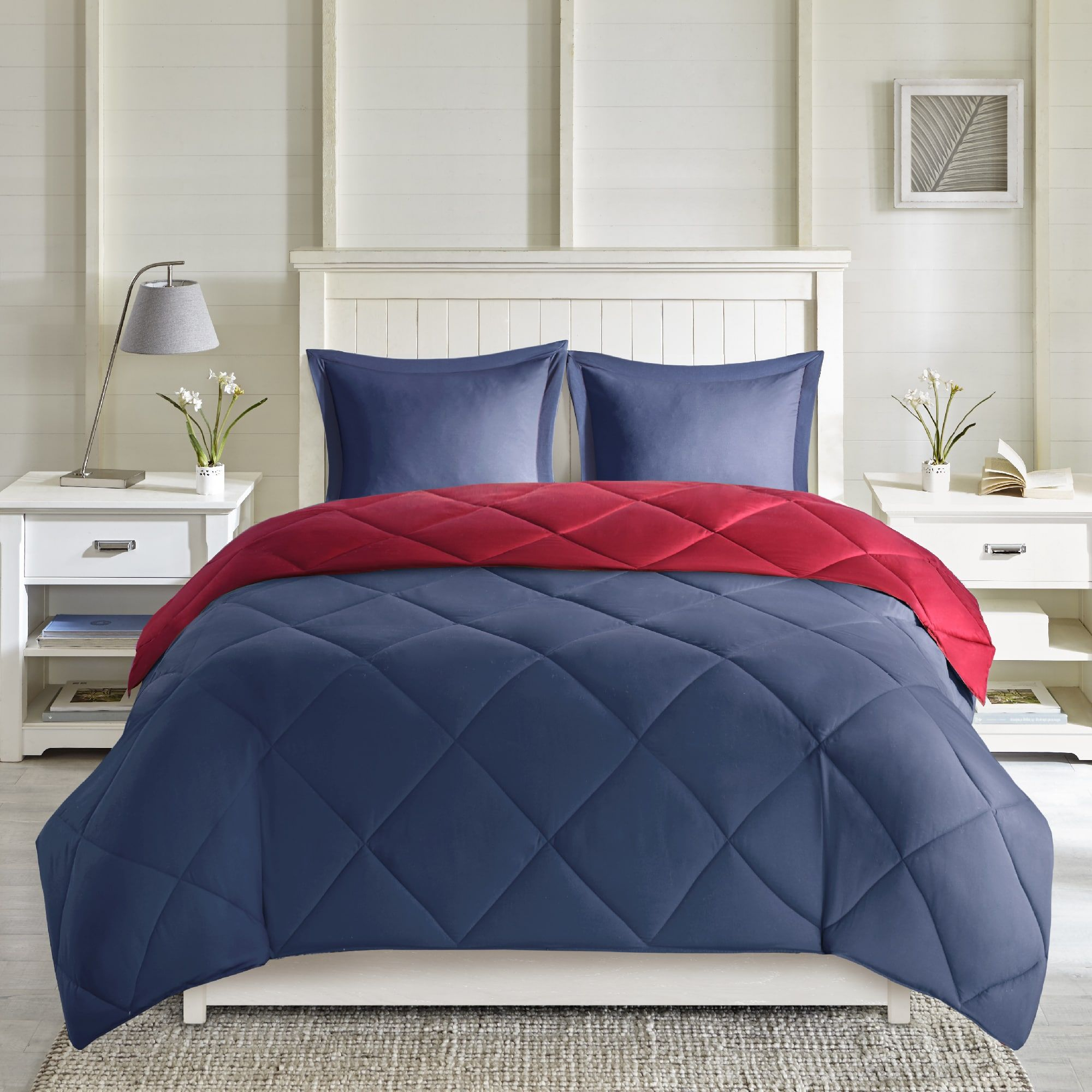 reversible size set comfort itm geometrical and stitched home classics piece mini full grey coral alternative comforter spaces queen pattern down vixie