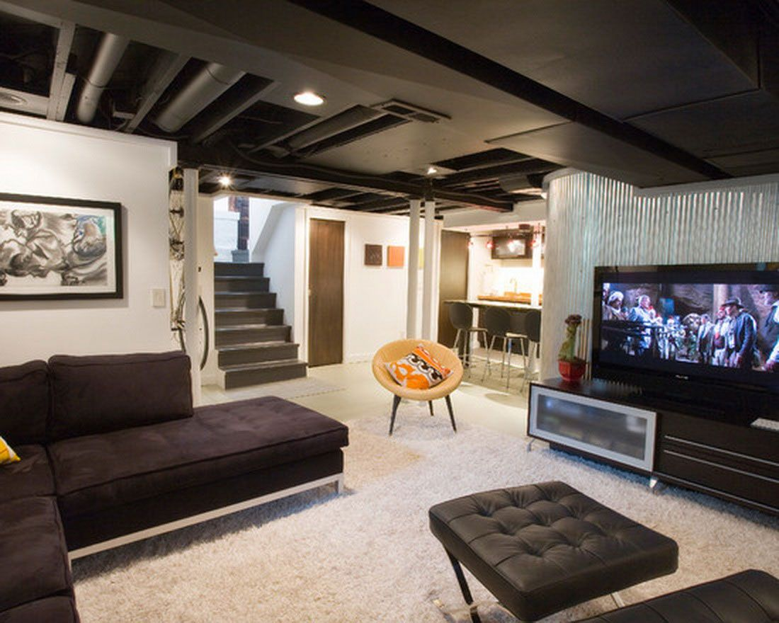 cool basement ideas providing media room and entertainment - http