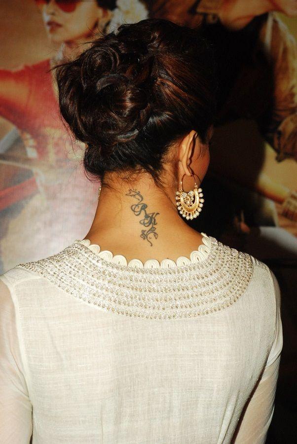 Is Deepika Padukone Changing Her Rk Tattoo To Rs Deepika Padukone Style Deepika Padukone Tattoos