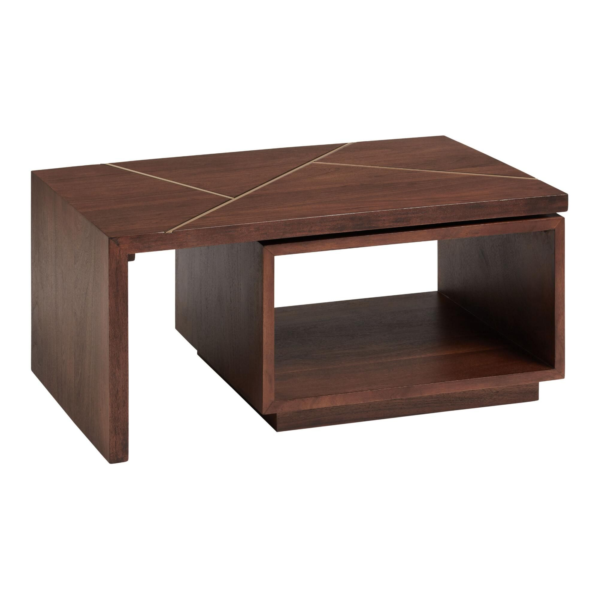 Walnut And Gold Inlay Mason Swivel Coffee Table Brown Wood By World Market In 2021 Coffee Table Coffee Table Small Space Furniture For Small Spaces [ 2000 x 2000 Pixel ]
