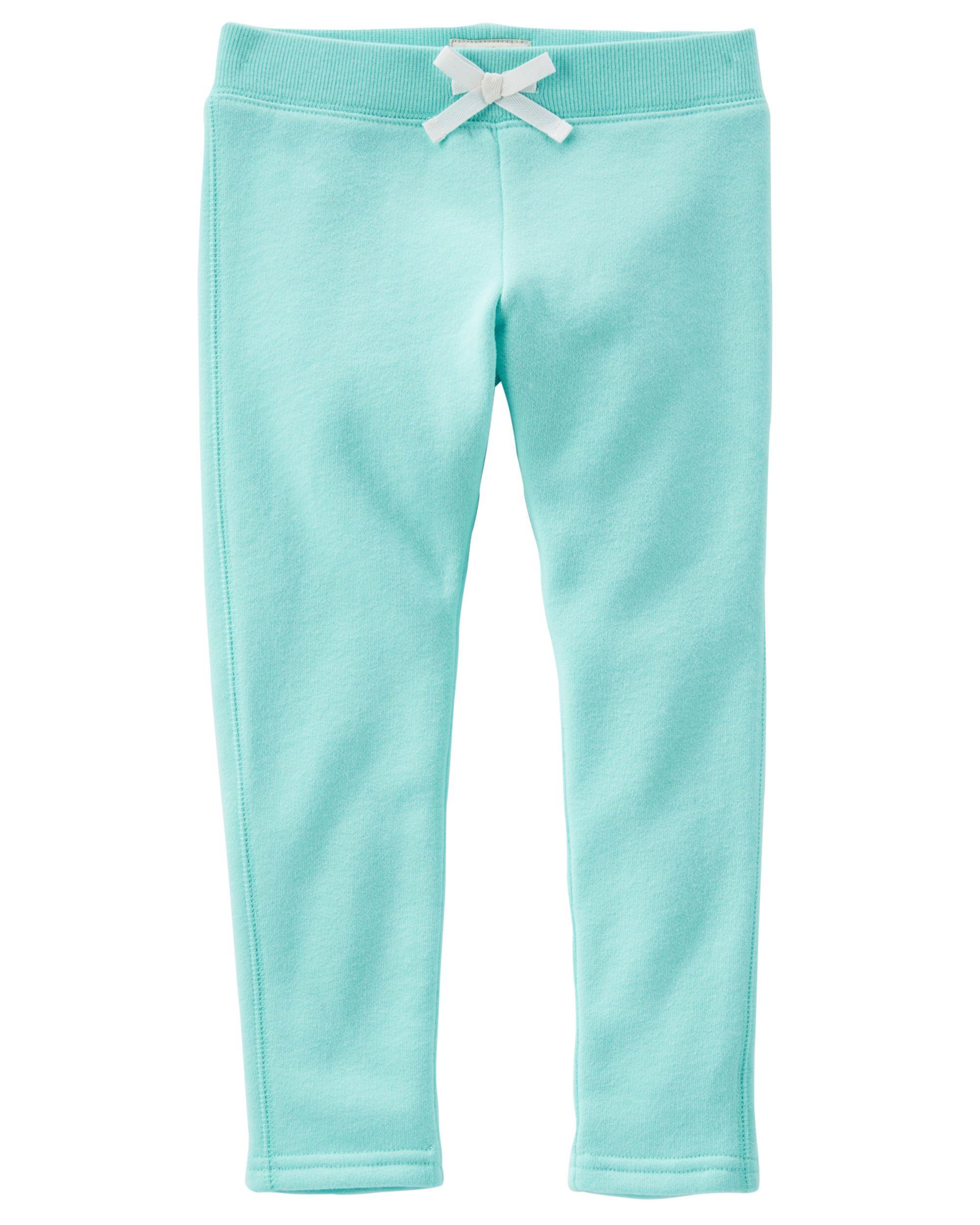 Coral NWT OshKosh B/'Gosh Toddler Girls/' Neon Skinny Sweats Pants