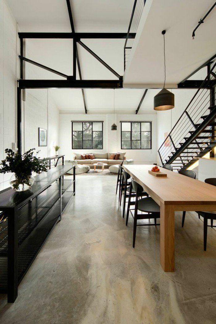 int rieur en b ton d coratif nos conseils b ton cire casas decoraci n hogar et pisos de. Black Bedroom Furniture Sets. Home Design Ideas