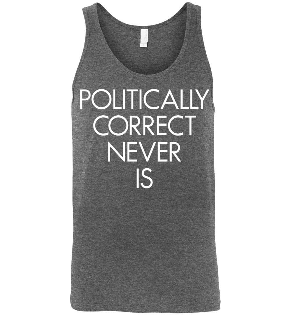 Politically Correct Never Is Canvas Unisex Tank