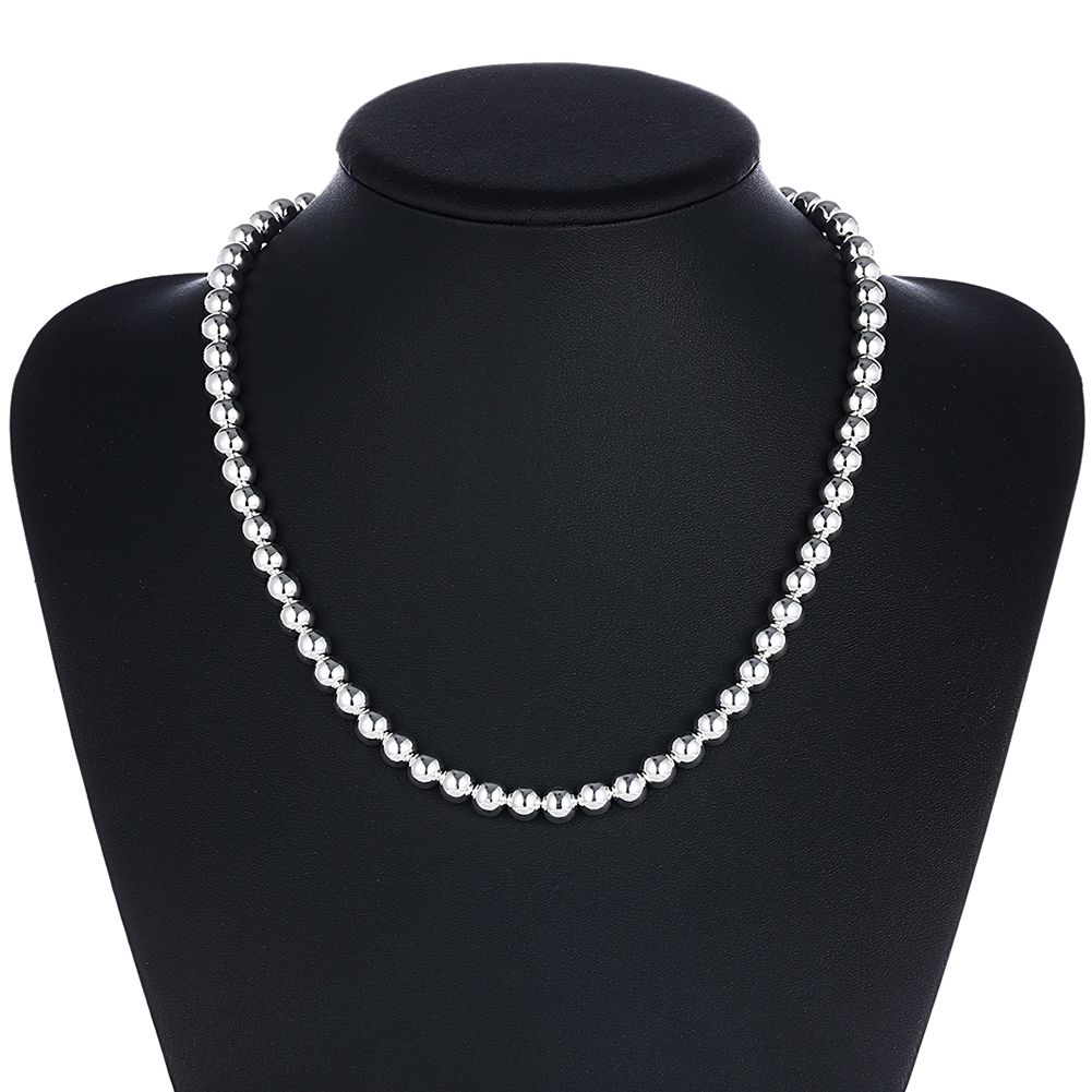kolye collares collier silver hiphop collars chain men link necklaces chains sterling jewelry curb product