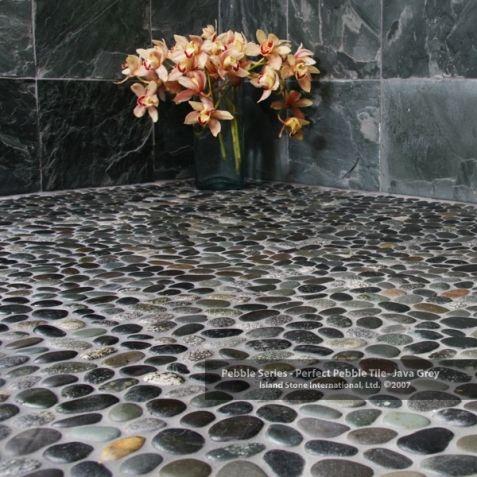 bathroom pebble stone natural river rock