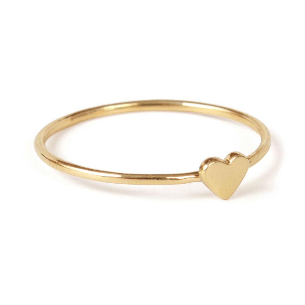 Heart ring yellow gold