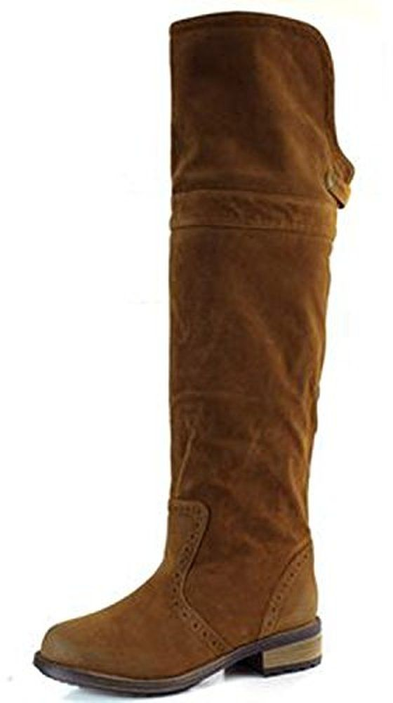 0413c545622 Qupid Women s Relax-70 Two Way Fold Down Sexy Knee High Cowboy Fashion Boots