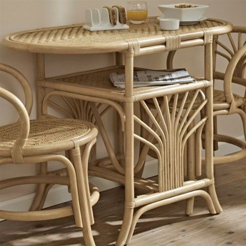 Furniture Awesome 2 Seater Rattan Oval Dining Table With Shelf Set