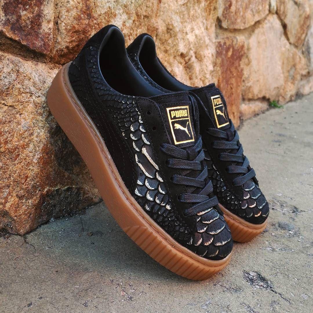 b8e2703dc5 Oro Negro · Zapatos · Zapatillas De Deporte De La Plataforma, Puma  Trepadora, Puma Fenty, Hypebeast, Oro