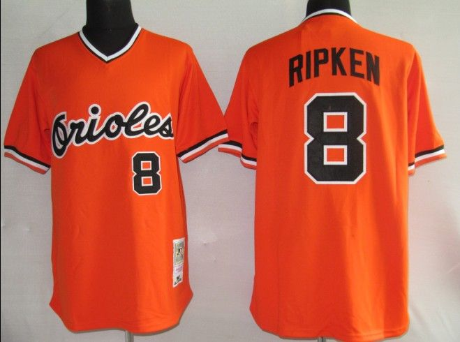 1be86bd9a ... 22.00 MLB Jerseys Baltimore Orioles Cal Ripken 8 Orange Mens Mitchell  and Ness ...