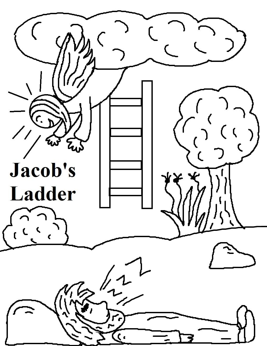 Coloring pages zacharias elizabeth - Find This Pin And More On Bible Jacob S Ladder Coloring Page